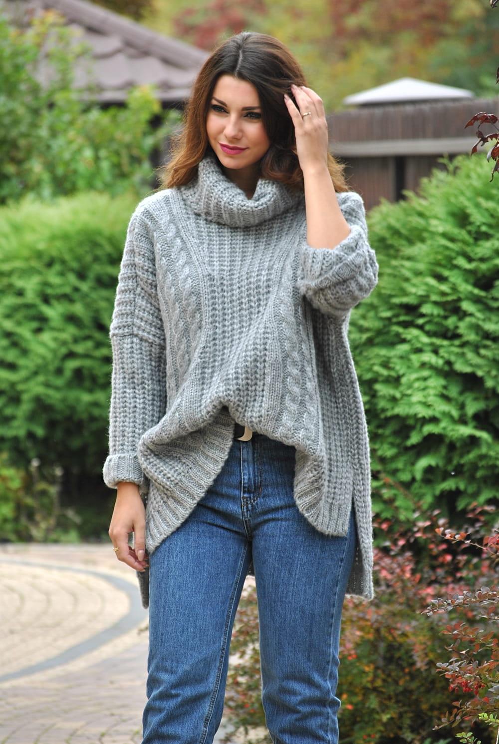 a80c38ac89 otulajacy ciepły sweter damski z golfem NOWOSC Sklep internetowy Amstyl